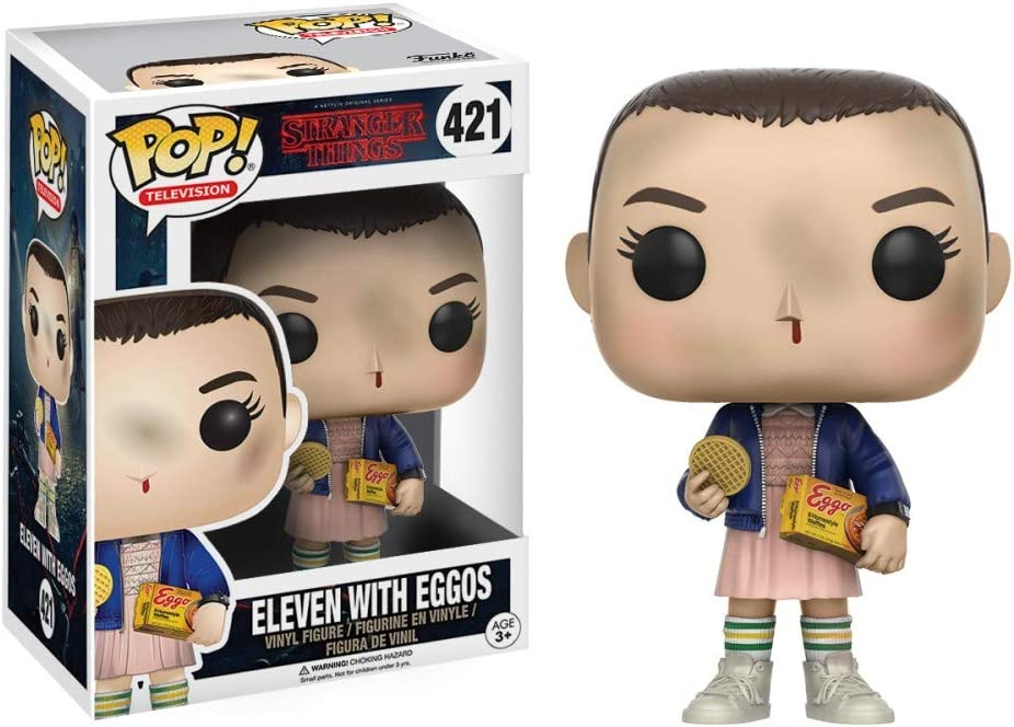 Funko 13318 Stranger Things Pop Vinyl Figure 421 Eleven with Eggos, 9 cm,  modelli assortiti: Stranger Things: Amazon.it: Giochi e giocattoli