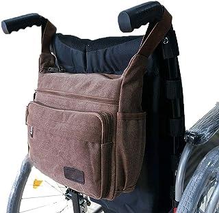 RANRANHOME Rullstolsväska rullstol canvasväska sidopåse korg förvaring organisatör tygfickor rörliga enheter