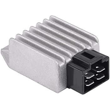 4 Pin 12V Male Plug Voltage Rectifier Universal Voltage Regulator Rectifier for 50cc to 150cc ATV Moped GY6 Scooter