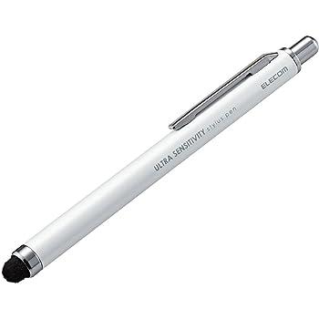 エレコム タッチペン 超高感度タイプ ゲーミングスタイラス [ iPhone iPad android で使える] ホワイト P-TPCNWH