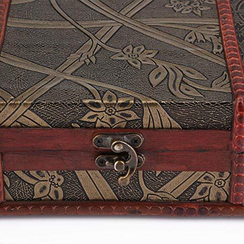 Aoutecen Exhibición Delicada de la Caja de Madera del Caso del Almacenamiento de la joyería compacta para la Oficina casera de la decoración de la Mesa(Narcissus, Blue)
