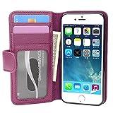 Cadorabo Funda Libro para Apple iPhone 7 / 7S / 8 / SE 2020 en Burdeos Violeta - Cubierta Proteccíon con Cierre Magnético e 3 Tarjeteros - Etui Case Cover Carcasa