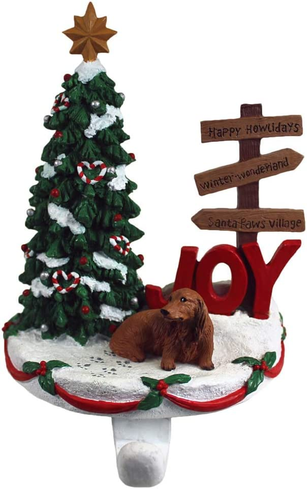 DogLoverStore Challenge the lowest price Dachshund Stocking Holder Long Hair Challenge the lowest price of Japan Hanger Red