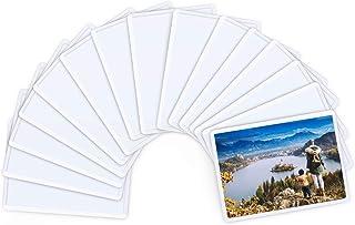 Magicfly Marco de Fotos Magnético 6,3x8,9 cm para Nevera, Marco de Fotos con Imán, Portafotos Magnéticos, Blanco, 15 pcs