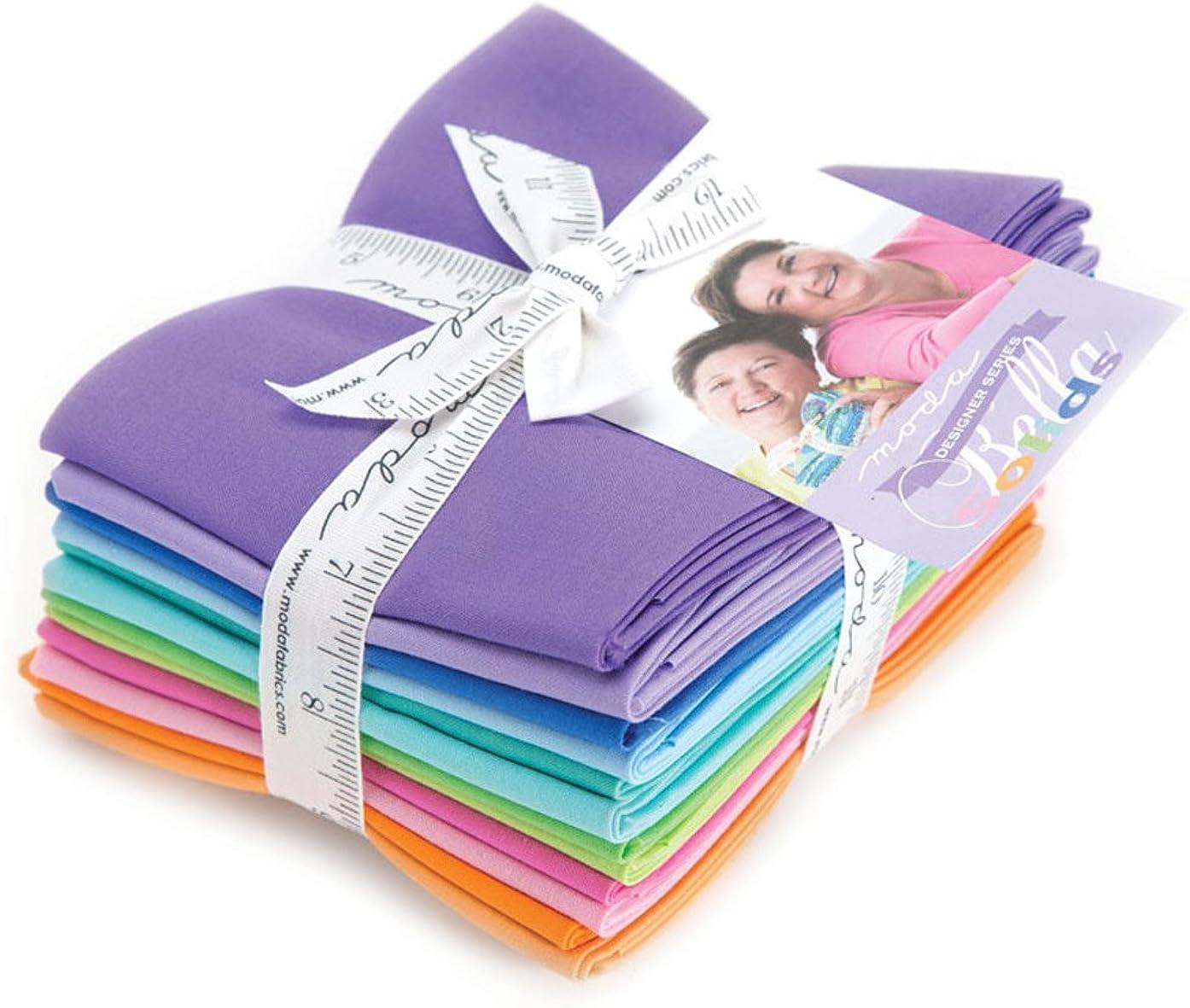 Me and My Sister Designs Bella Solids Designer Series 12 Fat Quarter Bundle Moda Fabrics 9900ABMMS