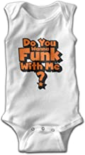 NTJPMY Unisex Do You Wanna Funk with Me Baby Sleeveless Bodysuit Romper Jumpsuit
