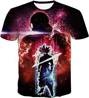 CHENMA Men Dragon Ball 3D Print Short Sleeve Pullover Regular Fit T-Shirt