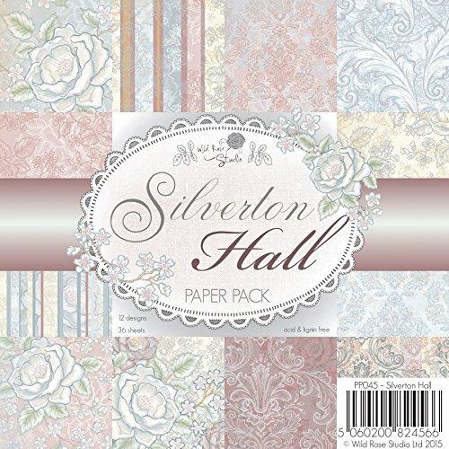 Wild Rose Studio 15,2x 15,2cm Papier Pack, Silverton Hall