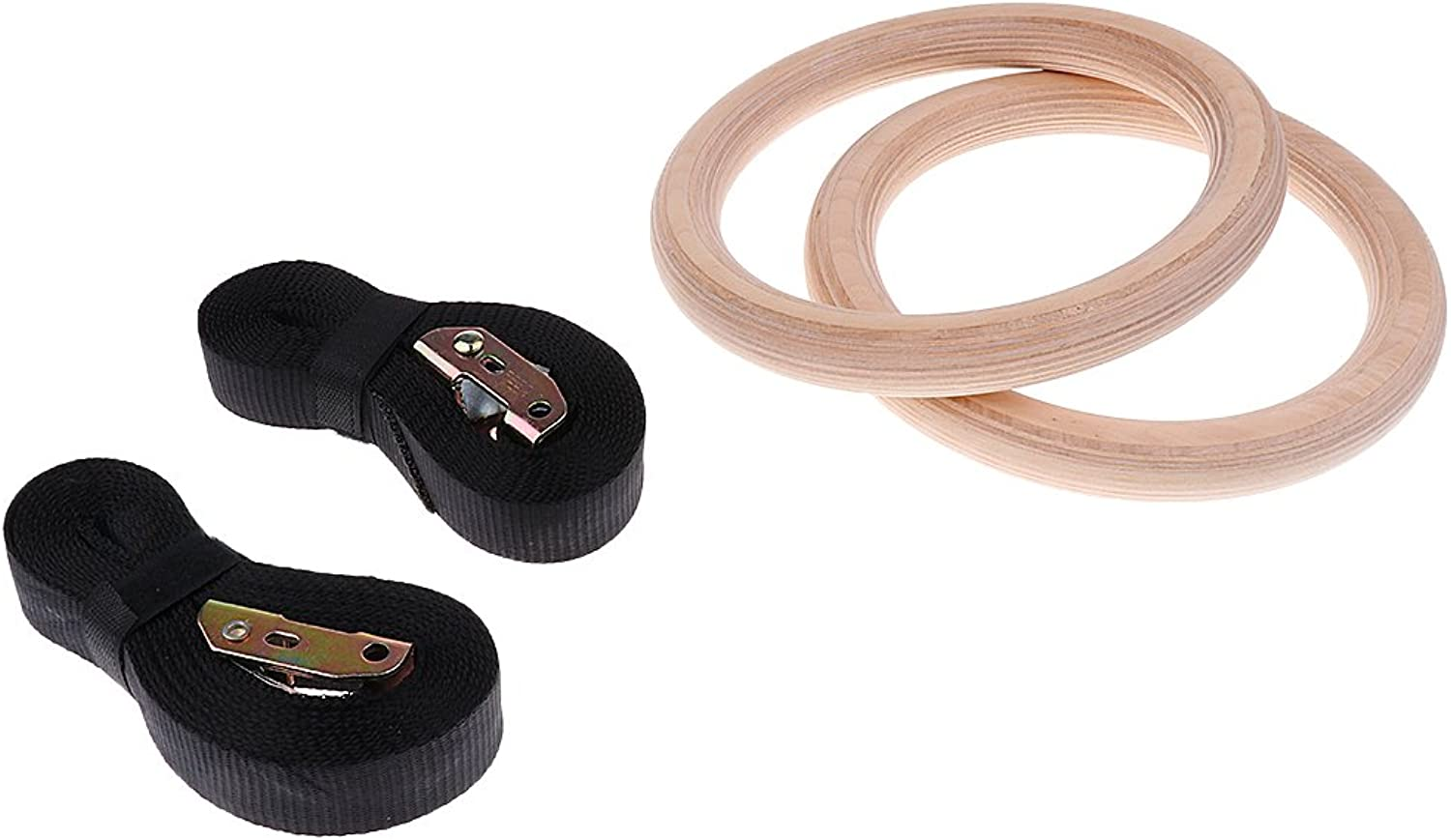 MagiDeal Wood Gymnastic Rings for Training Workouts, Gymnastics and Conditioning