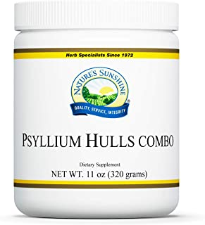 Nature's Sunshine Psyllium Hulls Combination, 11 oz., Organic Intestinal System Support is High in Soluble Fiber Which Fac...