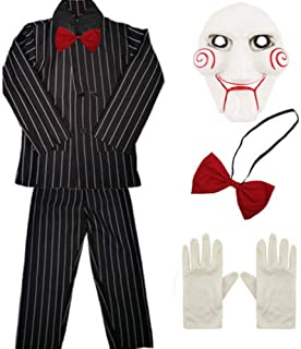 CHILDRENS KIDS BOYS BILLY PUPPET SUIT FANCY DRESS COSTUME HALLOWEEN CHILD OUTFIT