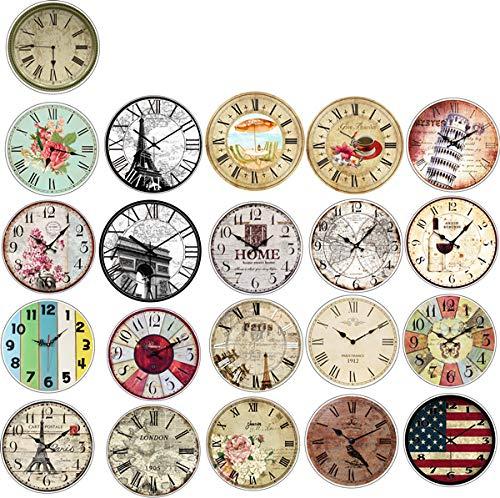 Vintage Creatieve Ronde Klokken Scrapbooking Stickers Decoratieve Tijdschrift Gelukkig Planner Kinderen Sticker DIY Craft Photo Albums