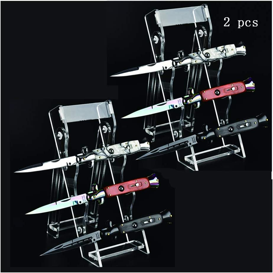 Kansas City Mall Knife Display Stand Arcylic 9.8×3.8 in 2 Fold Challenge the lowest price Pcs