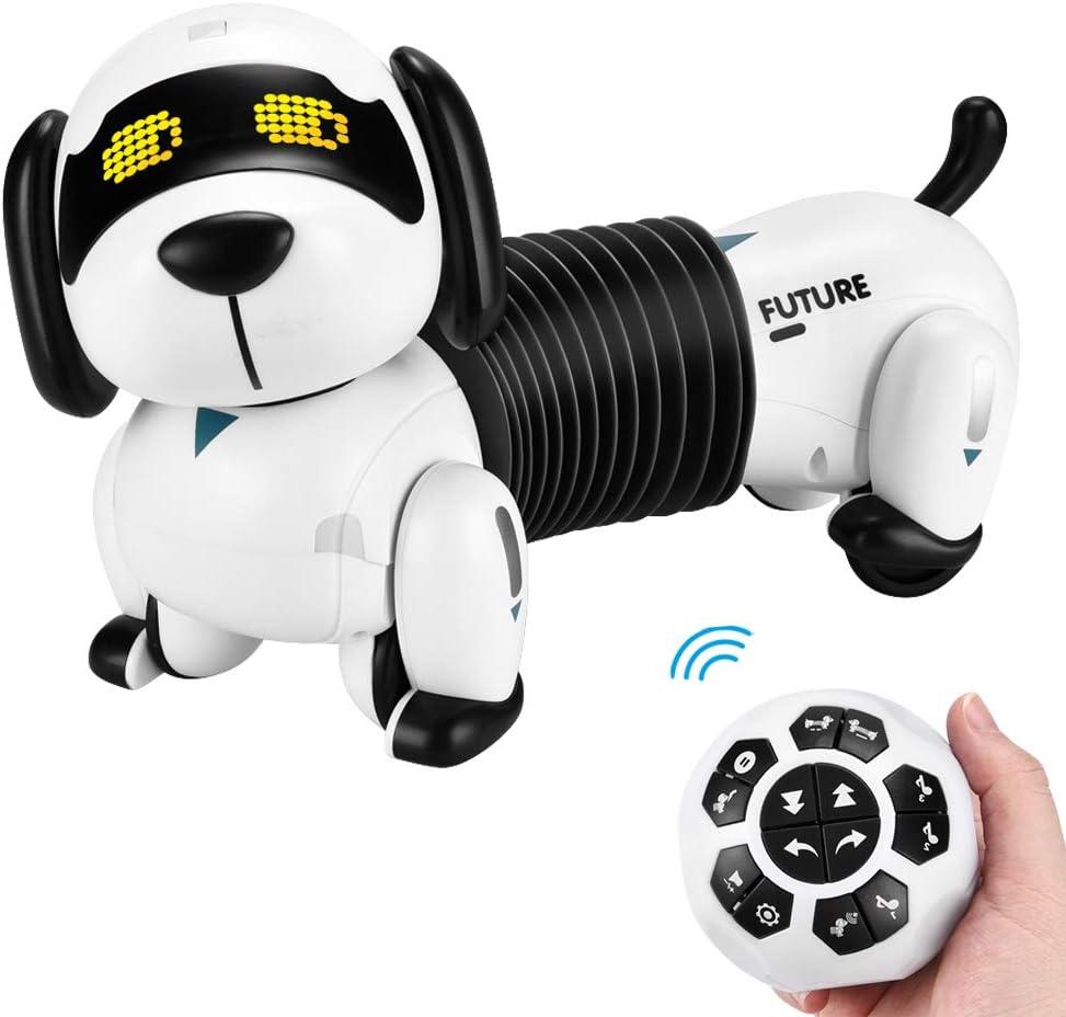 Ferngesteuerter Folgen Hund ALLCELE Roboter Hund Kinderspielzeug Wie Echte Hunde Hundespielzeug f/ür Jungen M/ädchen Programmierbare Roboterhund