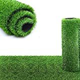 Nisorpa Artificial Turf Grass Lawn 3.3x33ft Synthetic Balcony Carpet Rug Roll Rubber Backed Indoor Outdoor Garden Landscape Patio Turf Mat for Home Wedding Decor