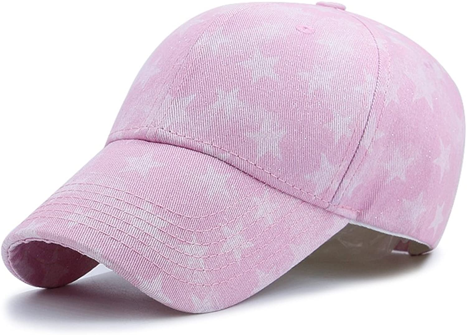 Baseball Cap Fashion,Star,Printing,Sunscreen Sun Hat Outdoor CapPink adjustable