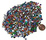Crystal King Juego de 1500brillantes de 5 mm, piedras strass acrílicas con efecto arco iris para manualidades o para decorar, para pegar, efecto opalino, transparente, brillante