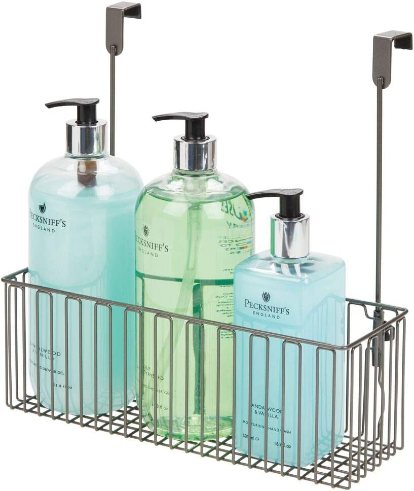 Max 60% OFF mDesign SEAL limited product Metal Over Cabinet Bathroom Organizer Holder Storage or