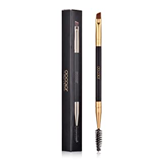 Duo Eye brow Brush, Docolor Professional Tool, Angled EyeBrow Brush and Spoolie Brush Black …