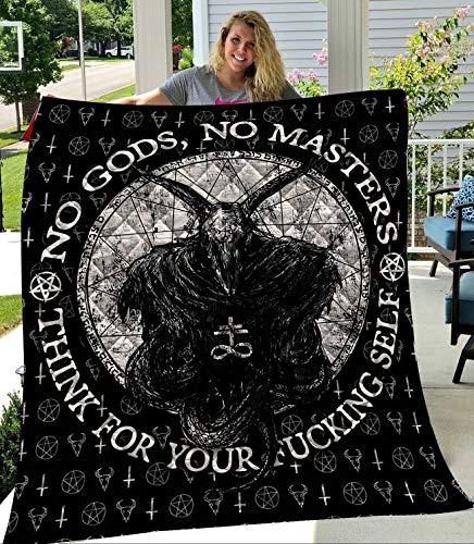 GETYSORA Satanic 1 Fleece Quilt Blanket