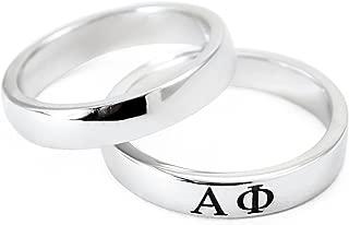 The Collegiate Standard Alpha Phi Sorority Sterling Silver Skinny Band Ring