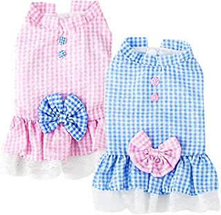 Sebaoyu Dog Clothes for Small Medium Large Dogs Girl-Summer Puppy Dresses Apparel-Female Pet...