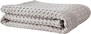 PHF Cotton Waffle Weave Blanket Home Decoration Cozy Soft Comfort for All Season King Size Khaki