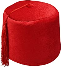 Nicky Bigs Novelties Adult Velvet Fez Hat Costume Shriner Casablanca Moroccan Cap Costume Accessory