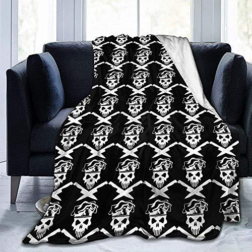 Nazi Mie Chef Schädel und Chef Messer werfen Decke Super Soft Cosy Decke für Couch Sofa Office Erwachsene