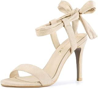 Allegra K Women's Tie Up Stiletto High Heels Sandals