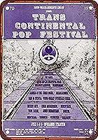 Transcontinental Pop Festival ティンサイン ポスター ン サイン プレート ブリキ看板 ホーム バーために