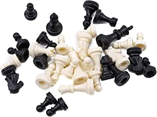 Guoshang Chess Pieces Plastic Checker Spare Chess Pieces Board Game Accessories Educational Game for Adults and Kids Pack of 32