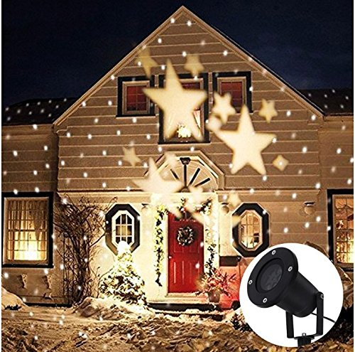 Lightess Christmas Projector Light Star Moving Holiday Decorations Outdoor Indoor Decor LED...