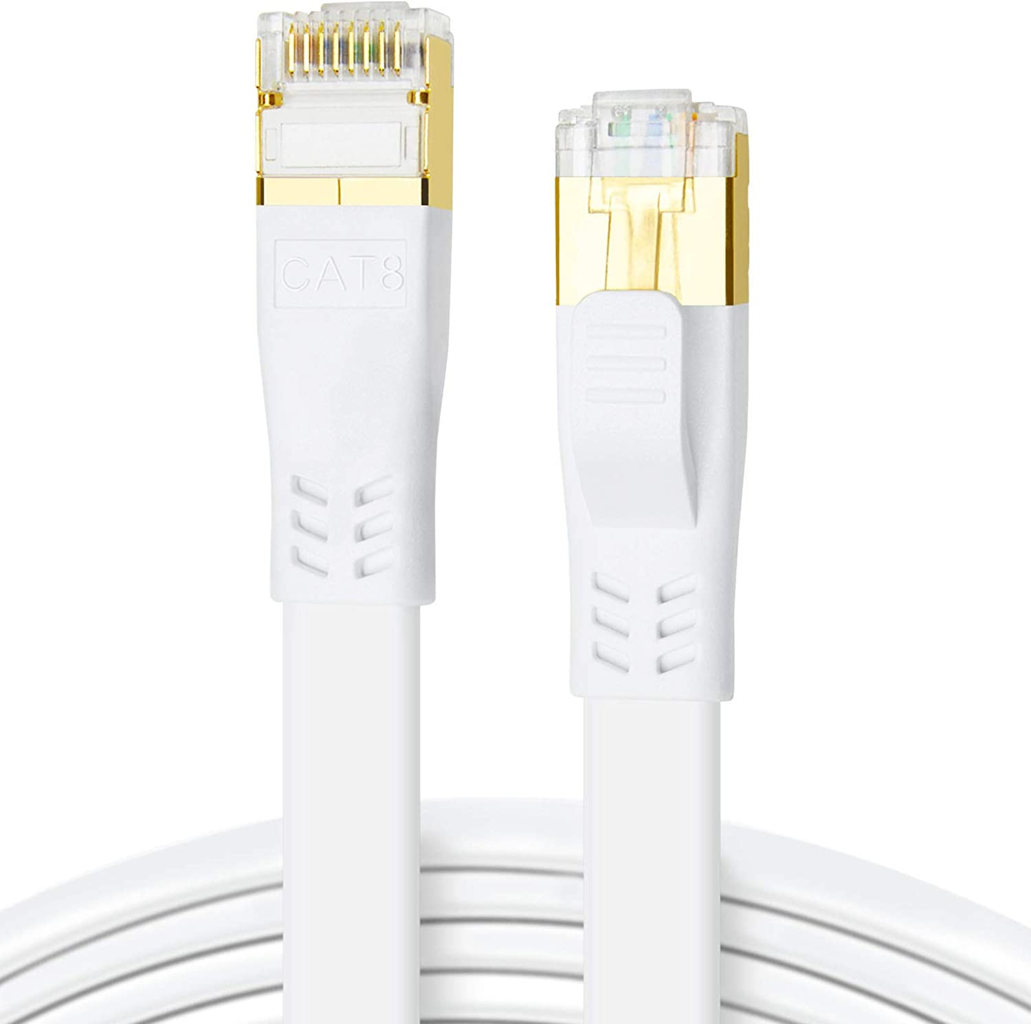 CAT8 Ethernet Cable 100ft 26AWG Long Beach Mall New item Speed High Heavy 2000MHz 40Gbps