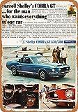 Wise Degree 1968 Ford Mustang Shelby Cobra GT 350/500 Metallblechschild Poster Wand K¨¹Che Kunst Cafe Garage Shop Bar Dekoration