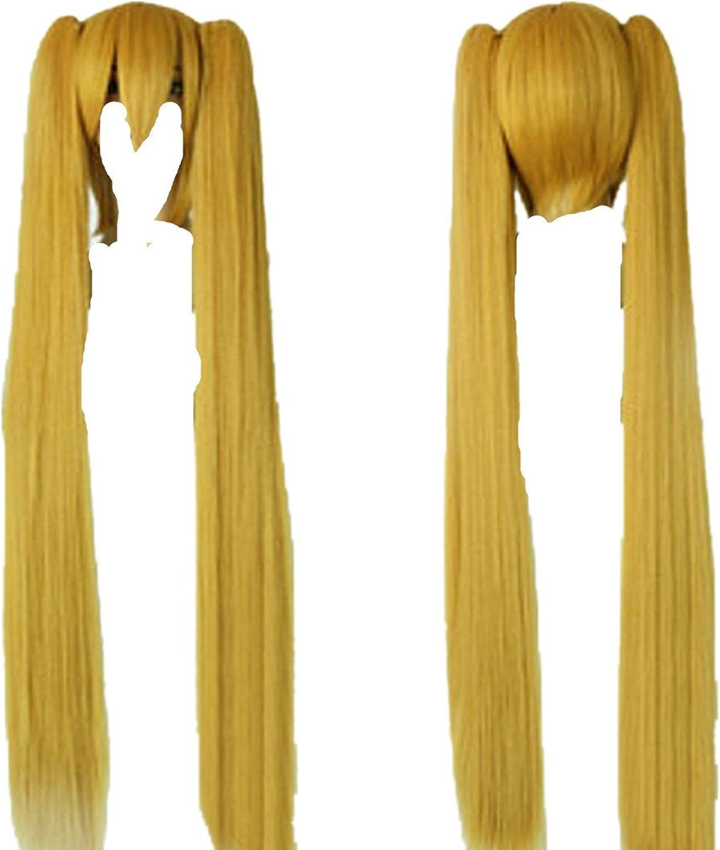 Vocaloid Miku Hatsune 120cm Long Yellow Cosplay Costume Wig