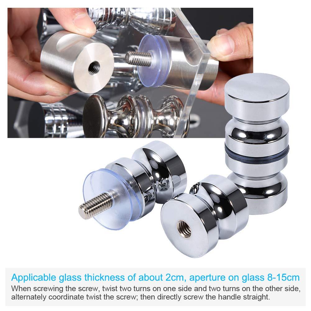 Tirador para puerta de muebles Manija de puerta de la aleación de aluminio para el gabinete de la ducha del cuarto de baño del botón de cristal solo: Amazon.es: Bricolaje y herramientas