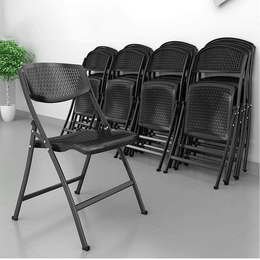 Chaise pliante Chaise de bureau Conférence Président Formation Président Accueil Dossier Chaise informatique Tabouret en bois Fauteuil (Color : Black) Black