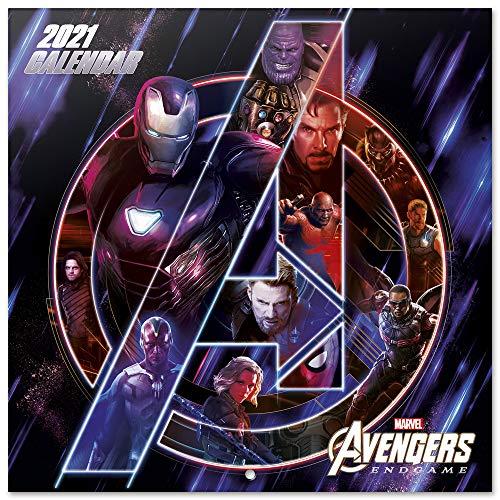 ERIK - Calendario de pared 2021 Los Vengadores, Marvel, 30x30 cm, Producto Oficial (Incluye póster de regalo)