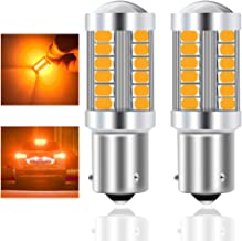 Teguangmei 2Pcs 1156 BAU15S PY21W 7507 Car LED Bulbs Amber Front and Rear Turn Signal Light 900LM Super Bright 5730 33SMD ...