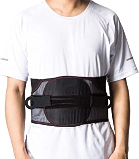 Lumbar Support Belt, Adjustable Lower Back Brace with Pulley System Fusion & Discectomy Surgery Recovery - Help Relieve Back Pain and Stress