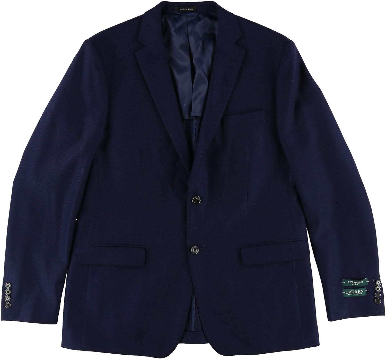 Lauren Ralph Lauren Classic Fit Textured Soft Tailored Sport Coat 40L Navy