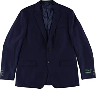 Mens Classic-Fit Textured Two Button Blazer Jacket