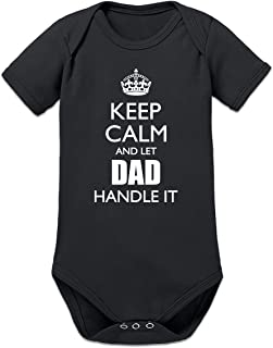 Shirtcity Keep Calm and Let Dad Handle It Baby Strampler