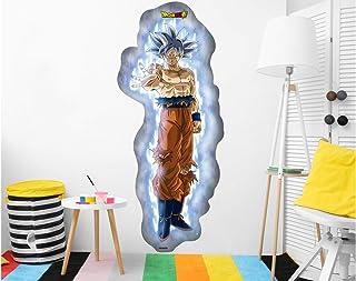 Vinilo de Pared Tamaño Real Dragon Ball Super Goku Super Sayan Producto Oficial | 64x150 cm |Vinilo para Paredes | Producto Original | Vinilo Adhesivo | Mural | Decoración Hogar | DBS