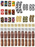 104 Pieces Dreadlocks Braiding Beads Metal Cuffs Tubes Hair Coil Dreadlocks Norse Viking Beads Hair Jewelry for Women Girls Braiding Hair Accessories, Assorted Styles
