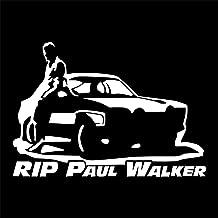 Pokewin 2pcs Rip Paul Walker Sticker Car Bumper Auto Vinyl Decor