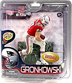 NFL New England Patriots McFarlane Collectors Club Rob Gronkowski Exclusive Red & White Throwback Uniform 2012 Action Figure