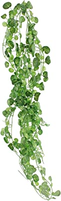 Fourwalls Polyester Artificial Green Ivy Vines/Leaves (10 cm x 10 cm x 280 cm, Green, Set of 12)