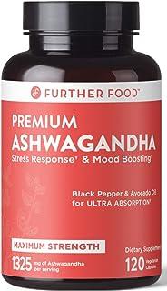 Premium Organic Ashwagandha Capsule for Stress Relief, 1325mg Ashwagandha Root & Black Pepper, Thyroid Support Cortisol + ...